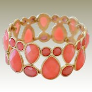 Pink Coral Color Stretch Bracelet