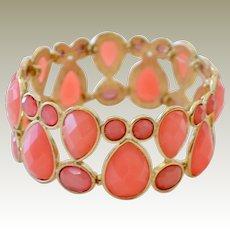 Pink Coral Color Stretch Bracelet