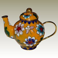 Miniature Teapot Chinese Cloisonne