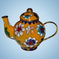Miniature Teapot Chinese Cloisonne