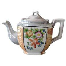 Vintage Lusterware Tea Pot Larger Size Japan