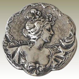 Pin Brooch Art Nouveau C Clasp