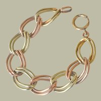Bracelet Rose and Yellow 14K Gold over Sterling Silver