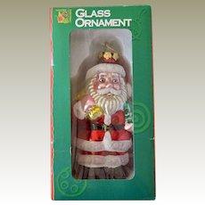 Christmas Ornament Glass Santa Claus