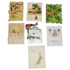 Seven Small Booklet Type Christmas Greeting Cards