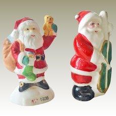 Santa Claus Bisque Figurine 1935 and Porcelain Shaker Japan