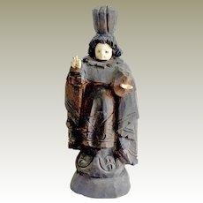 Old Santo Sculpture Carved Wood Infant of Prague