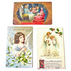 Three Christmas Postcards  Angels Bavaria  and Germany Two Undivided Back Post Card