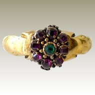 Antique Gemstone Ring 14K Yellow Gold As Is