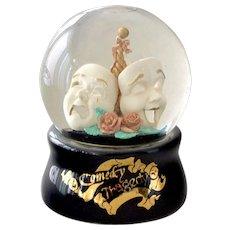 Music Box Comedy Tragedy Snow Globe 1993