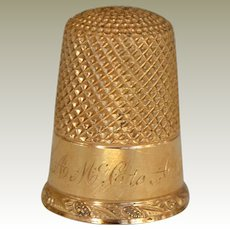 Sewing Thimble 14k Yellow Gold