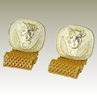 Egyptian Themed Cufflinks Mesh Wrap