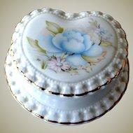Heart Shaped Porcelain Box Crown England