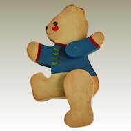 Teddy Bear Wall Hanging 1987 Hand Painted Artist Signed
