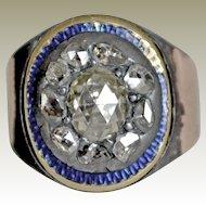 Antique Ring Rose Cut Diamonds  10K Damaged