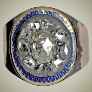 Antique Ring Rose Cut Diamonds  10K As Is