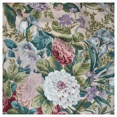 Cohama Upholstery Fabric Tapestry Bouquet 1987