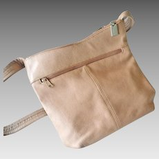 Tignanello Leather Hobo Shoulder Bag  Purse