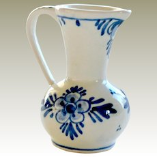 Vintage Miniature Delft Holland Creamer Pitcher Hand Painted