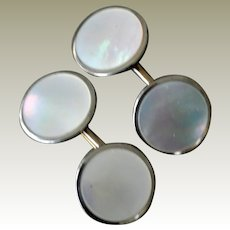 Barry Cuff Links Mother of Pearl Cufflinks