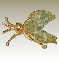 Pin BSK Red Eyed Bug Green Stone Wings