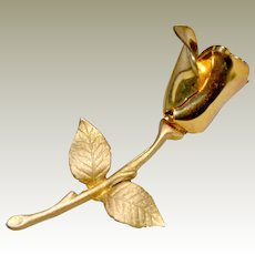 Sculpted Dimensional Rose Pin or Brooch