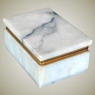 Marble Jewelry or Dresser Box