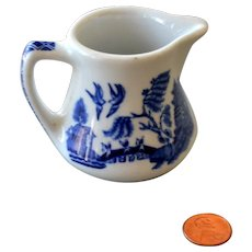 Shenango China Small Blue White Creamer