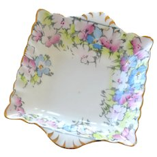 Dish Staffordshire China Exquisite Pastel Hand Painting