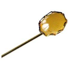 Gemstone Stickpin 10k Yellow Gold Stick Pin