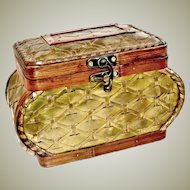 Larger Woven Box Brass and Wood
