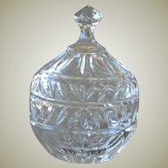 Glittering Glass Trinket Vanity Box