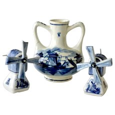 Delft Windmill Salt Pepper Shakers Wind Mill