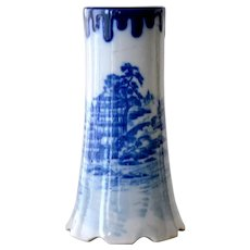 Chinese Blue and White Vase Traditional Asian Landscape