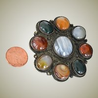 Pendant Large Agate Cabochons Two and One Half Inches