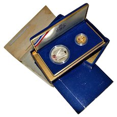U.S. Constitution Proof Coin Set $5 Gold and $1 Silver