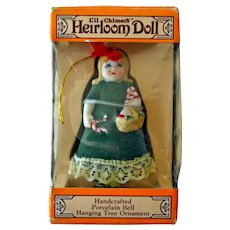 Porcelain Heirloom bell Doll Hanging Tree Ornament