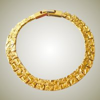 Bracelet Reversible Fancy Gold Tone Links Reversable