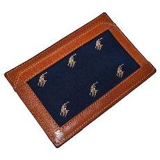Vintage Ralph Lauren Polo Leather Billfold Notepad Desk Accessory