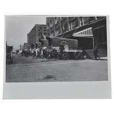 Photograph Nabisco Loading Dock Horse Delivery Wagons
