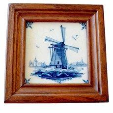 Framed Delft Tile Jungerhans Holland