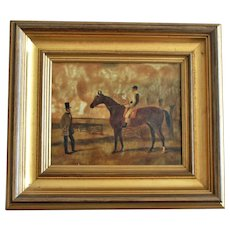Gold Gilt Painting Picture Frame with Canvas Horse Print