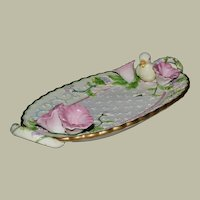 Avon Collector Dish Springtime Adorable Little Duck Flowers