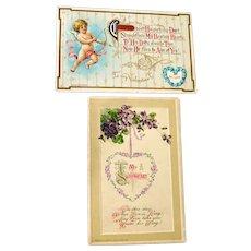 Two Valentine Postcards Winsch Wessler Post Card