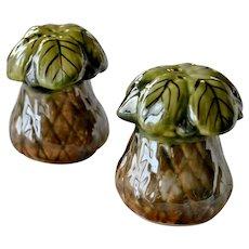 Louisville Stoneware Salt and Pepper Shakers  Toadstools Mushrooms