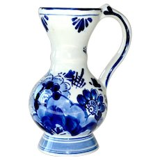 Delft Pitcher Creamer Delftsblauw Hand Painted Blue and White