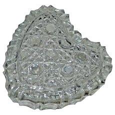 Crystal Glass Heart Shaped Trinket Ring Box