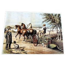John Deer Advertising 1990 Poster Print Horse Drawn Plow