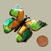 Butterfly Pin Brooch Enamel Germany