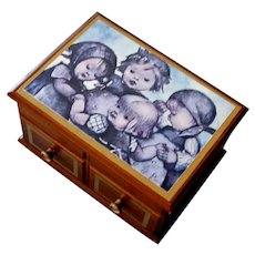 Music Box Wood Four Girls Theme from Love Story Original Box